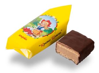 Вафельные конфеты с начинкой, изготовленной по классической рецептуре на основе какао-масла и тертого жареного арахиса в шоколадной глазури