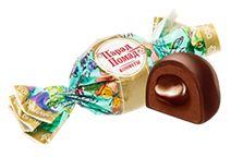 Шоколадно-помадная конфета с молочной начинкой, покрытая шоколадом
