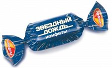 Конфеты «Звездный дождь» – темная, как бесконечный космос, помадка, покрытая шоколадной глазурью. Тающие во рту конфеты с ярким шоколадным вкусом, легкой терпкой ноткой и бодрящим ромовым ароматом. Начинка настолько нежная, что кажется похожей на шоколадный крем