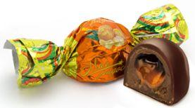 Конфеты глазированные с комбинированным корпусом. Помадные конфеты с нежнейшим вкусом апельсина