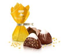 Сочетание двух видов шоколада и неглазированного пралинового корпуса, наполненного обжаренными семенами кунжута. Отсутствие шоколадной оболочки позволяет подчеркнуть особенный пралиновой вкус
