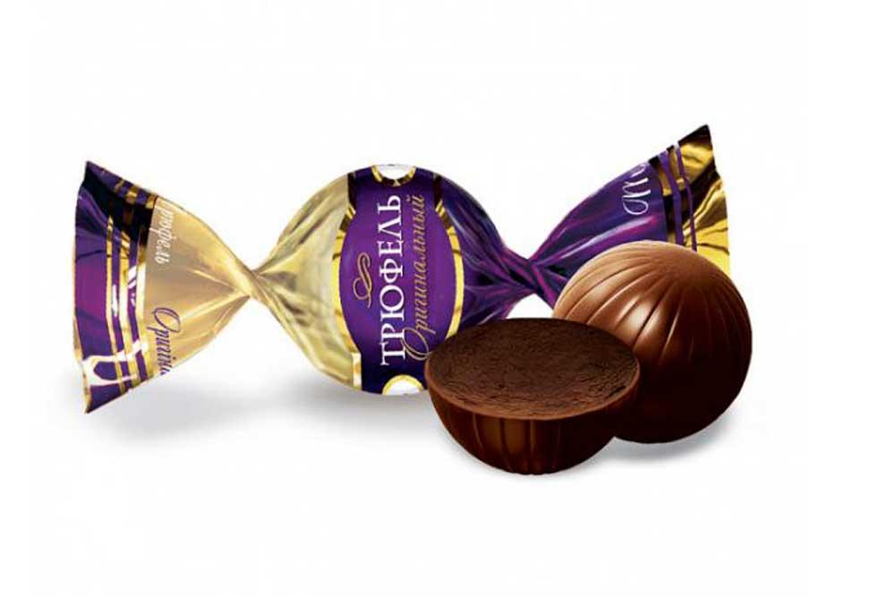 Нежная трюфельная начинка в оригинальном корпусе-шарике из темного шоколада
