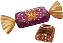 Глазированная конфета с насыщенным вкусом темного пралине (на основе какао) с хрустящими воздушными шариками